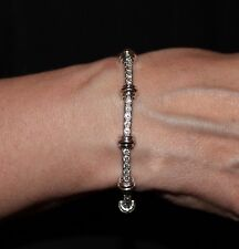 HENRY DUNAY 3.15 Cttw Diamond Bamboo Tennis Bracelet in Platinum