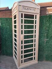 More details for 8ft life size 2 sided vintage telephone box event photo stage prop set dressing
