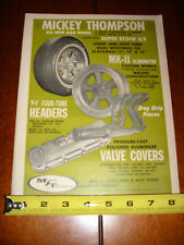 1967 MICKEY THOMPSON - WHEELS - HEADERS - VALVE COVERS - ORIGINAL AD