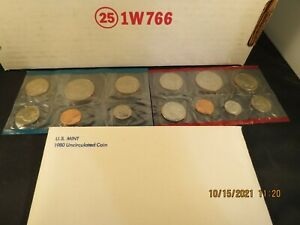 1980 US Mint Uncirculated Coin D & P in original envelope
