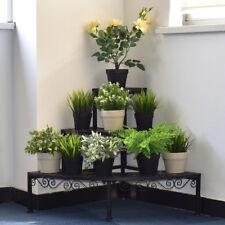 3 Tier Corner Metal Flower Pot Pots Rack Plant Shelf Display Stair Step Ladder