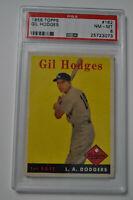 1958 Topps - Gil Hodges - #162 - PSA 8 - NM-MT