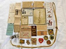 RARE 1930's-1940's BOY SCOUT MEMORABILIA w/ EMERGENCY SERVICES CORPS, PHOTO, etc