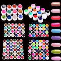 Manicure Nail Art Decor Solid Pure Glitter Mix Color Gel Acrylic UV Builder Sets