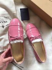 Authentic Baby Pink Patent Prada Espadrilles EU39.5