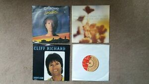 """Cliff Richard - 4 x 7"""" Singles - Whenever God Shines His Light + 3 others"""