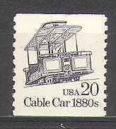USA 1985 Transport/Cable Car/Rail/Bus/Tram 1v (n24539)