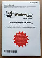 Microsoft Windows 2000 Server SP3 1-4 CPU 5 CALS Unused Product Key New Sealed