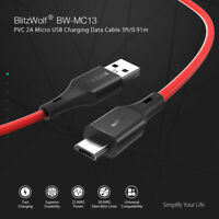 BlitzWolf Micro USB Charger Cable Fast Charging Data Sync Cord For Samsung