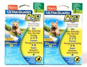 2 Packs Hartz Ultra Guard Pro Triple Action Dogs 5 To 14 Lbs Flea & Tick Drops