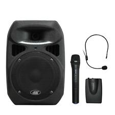 Audio2000'S 6406X Dual Channel Wireless Microphone Portable PA System -MR