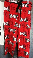 Capri pajama bottom Mickey Mouse print, 100% cotton, Medium new red Capri pant