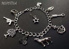 Teen Wolf Charm Bracelet Triskelion Arrows Anchors Guns Angel Wings Nemeton Fox