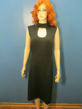 sz 22 / 24 black zip up open bust knit dress by ASHLEY STEWART