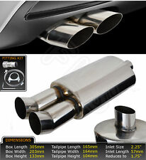 UNIVERSAL PERFORMANCE FREE FLOW STAINLESS STEEL EXHAUST BACKBOX LMO-003  FIA1