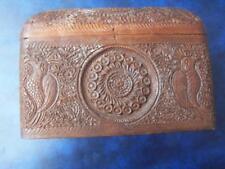 Treen hardwood - Indian/Burmese Hardwood carved folding cheroot box