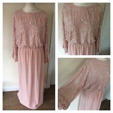 Genuine Vintage 1970s/80s Jack Bryan heavily beaded dress Size 16-18 Wedding H2