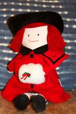 Vintage 1997 Eden Plush Madeline Doll In Christmas Festive Holiday Outfit