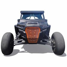 CNC Billet Orange Aluminum Grill 2017 2018 Polaris RZR XP Turbo XPT 2 Seat SxS