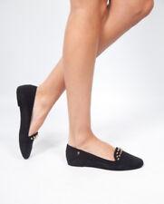 Melissa Mocassin Chaussures 3 Noir Plat Gold Spike Parti Vegan Daim fille femme 35 36