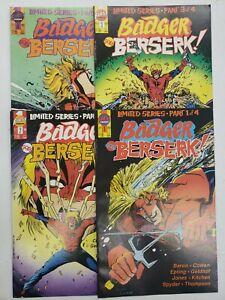 BADGER GOES BERSERK! #1-4 COMPLETE SET ~ VF-NM 1989 FIRST COMICS ~ MIKE BARON