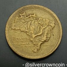 Brazil 1 Cruzeiro 1944. KM#558. One Dollar coin. Map.
