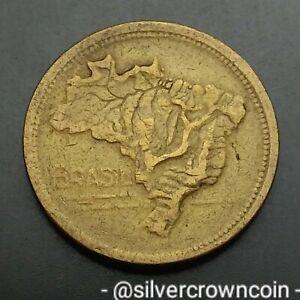 Brazil 1 Cruzeiro 1944. KM#558. One Dollar coin. Map.