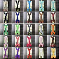 40+ Colors Y-Back Elastic Suspenders for Baby Toddler Kids Boys Girls US Seller