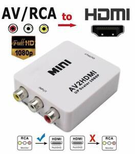 MINI convertisseur AV2HDMI vers HDMI composite CVBS RCA 1080P Adaptateur+Cable