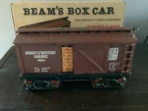 Jim Beam Train Brown Box Car Decanter With Box (EMPTY)