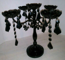 5 Arm Tabletop Candelabra Candle Holder with black