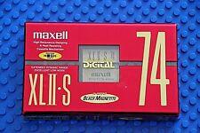 MAXELL XL II-S     74   VS. VI  RED     BLANK CASSETTE  TAPE (1)  (SEALED)