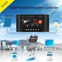 40A PWM Solar Panel Battery Regulator Charge Controller Safe Protection 12V/24V