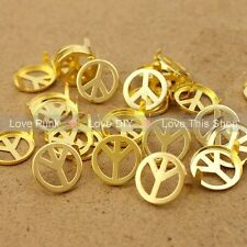 DIY 100pcs 16mm Golden Peace Rivet Spike Nickel Free Shipping Dropshipping