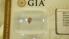 GIA Cert 0.23ct PEAR diamond NATURAL FANCY brownish PURPLISH- PINK, SI-2 Sealed
