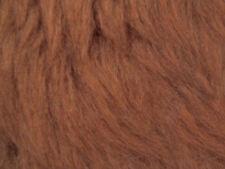 Chesnut Plain Faux Fur Fabric Short Hair 150cm Wide SOLD BY THE METRE