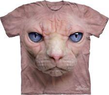 The Mountain Hairless Pink Cat Kitten Face Adult T-Shirt PRINT IN USA SZ XXL