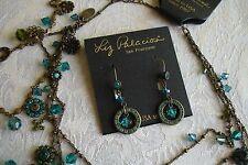 Liz Palacios Swarovski Crystals Flower Strand Charm Necklace Earrings Bracelet