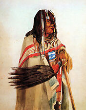 Blackfoot With Fan 15x22 Native American Indian Art Photograph Hand Numbered