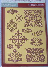 Decorative Elements Solid Brass Embossing Stencil - NEW - Free Shipping!