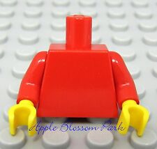 NEW Lego Girl/Boy Minifig Plain RED TORSO Minifigure Body upper w/Yellow Hands