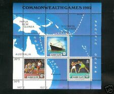 Solomon Islands #480 S/S Queeb Elizabeth ll Map of Royal Visit MNH-VF