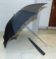 "Vintage 32"" Umbrella / Parasol Mid Century Plastic Handle Black with sleeve"