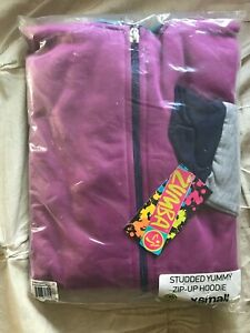 NEW Zumba Women's Studded Yummy Zip-up Hoodie Sweatshirt size XS