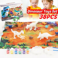 38pcs Jungle Animal Toys Set Dinosaur Wildlife Children Early Education Gifts AU