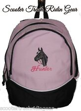 Black Beauty Horse PINK Backpack Book Bag school PERSONALIZED monogrammed NEW