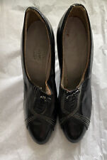 1920's True Vintage Black Leather Heels - Display, Costume, Resale