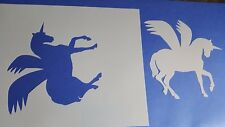 Schablonen 444 Einhorn Wandtattoo Stencil Leinwand Textilgestaltung Airbrush
