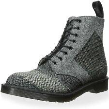 DR MARTENS Grey Tweed Patchwork Men's Boots UK 8