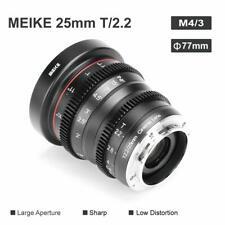 Meike Mini Cine Lens 25mm T2.2 For M4/3 Mount Olympus/Panasonic Lumix Cameras